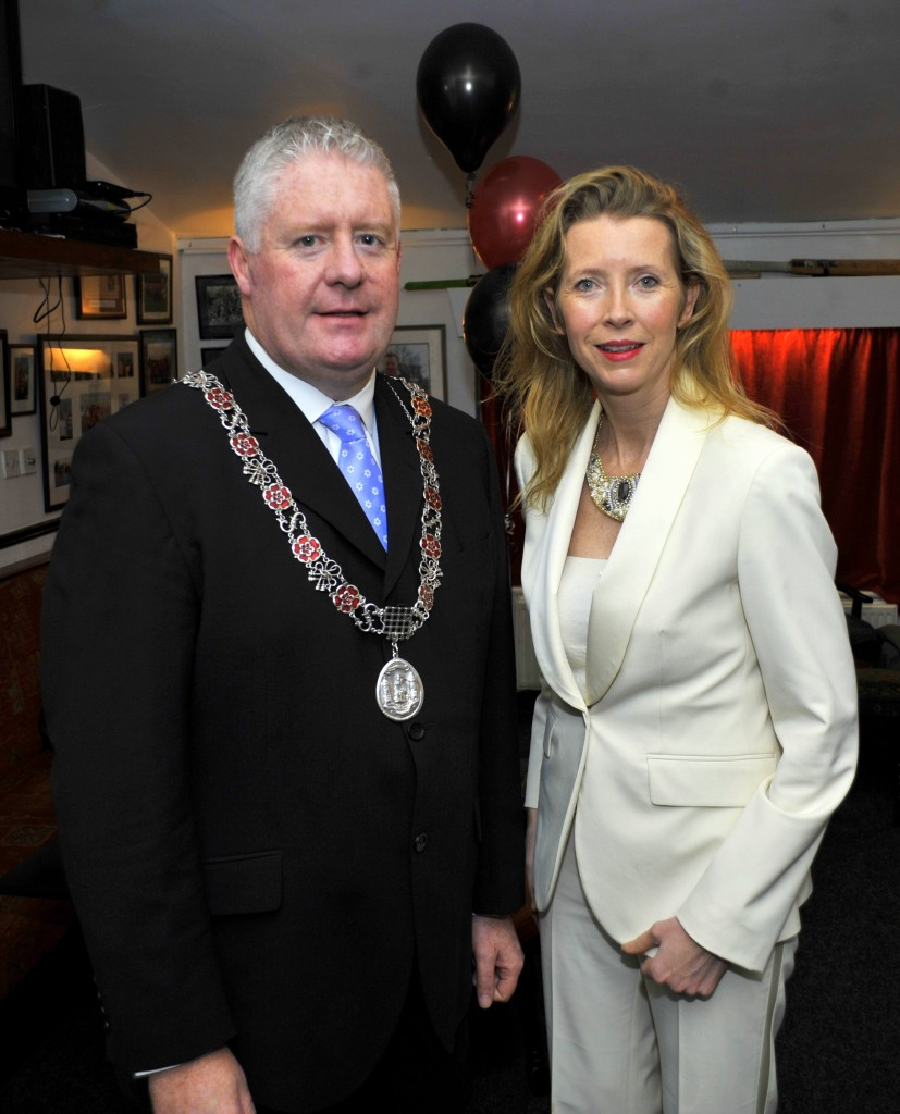 Pictured at the Cork Harlequins 90 years celebration anniversary at Cork Harlequins Club, Farmers Cross were, Deputy Lord Mayor, Cllr. Kenneth O'Flynn and Bridget Bateman, club member from Ballincollig. Pic: Gavin Browne