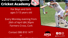 2021 Kids Cricket Academy – Monday 26/04/21 – New Members Welcome